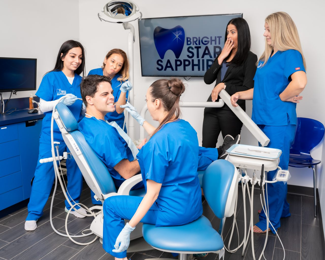 Bright Star Sapphire Dental (Fair Lawn, NJ) - Dental staff working and having fun