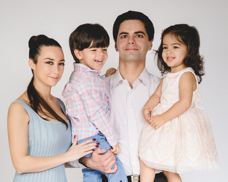 Dr Boris Kleyman with wife and kids